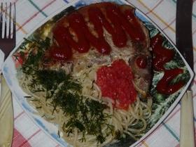 Свинина со спагетти по-славянски