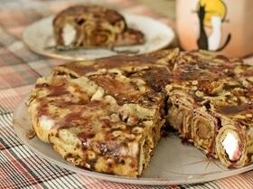 Пирог блинный «Три вкуса»