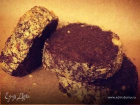 Шоколадно-лимонное печенье в ореховой панировке