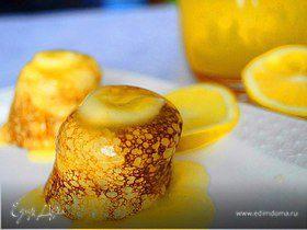 Блинчики с апельсиново-лимонным соусом