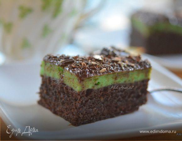 Брауни с мятным вкусом (Creme De Menthe Holiday Brownies)