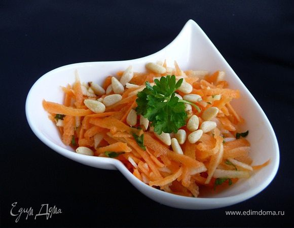 Салат с морковкой орешками #8