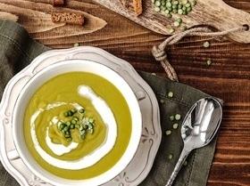 Суп-пюре из колотого зеленого гороха