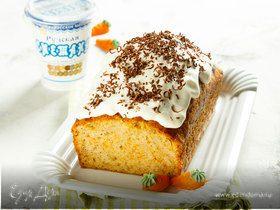 Морковный кекс со сметанной глазурью
