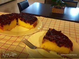 Перевернутый черничный пирог