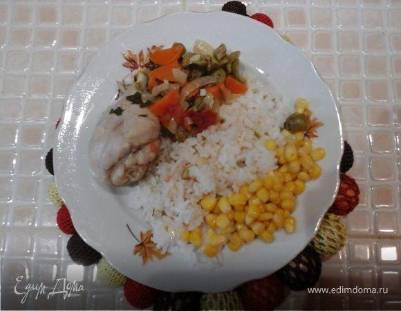 """Курица с овощами """"Вкусный ужин"""" – кулинарный рецепт"""