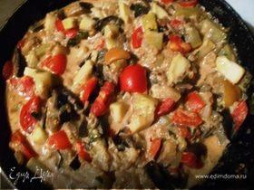 Рагу овощное «Баклажаны в сметане»