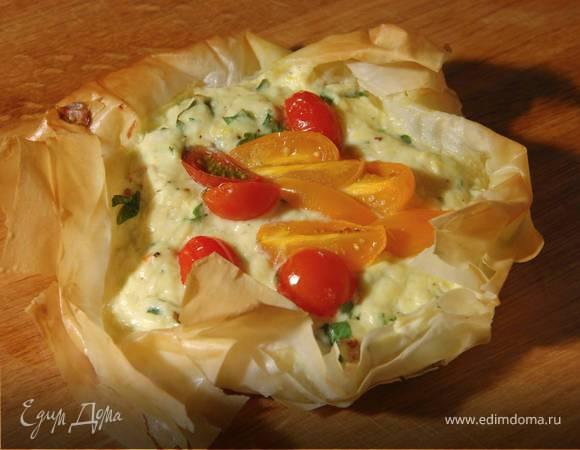 Тарталетки с рикоттой и помидорами черри