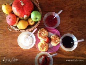 Тыквенные оладьи с яблоком и грушей