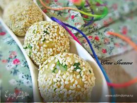 Закусочные шарики с печенью трески