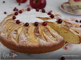 Яблочный пирог с кукурузной мукой