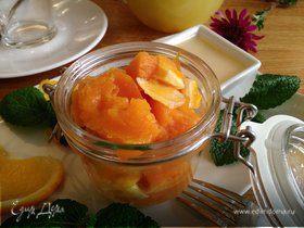 Тыквенно-апельсиновый десерт с медовым соусом