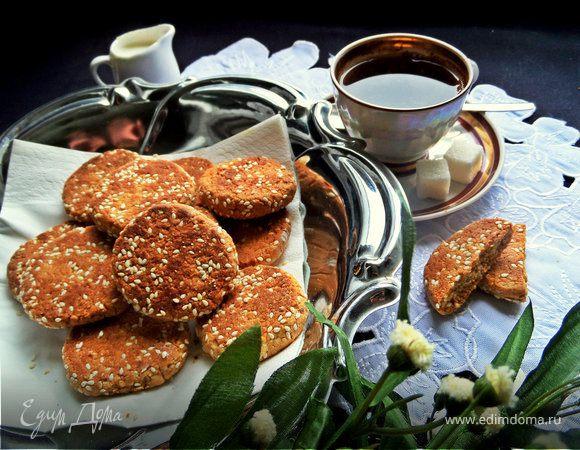 Кунжутное печенье на жареной муке