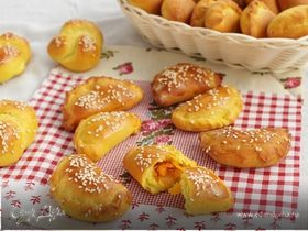 Закусочные пирожки с тыквой и чечевицей
