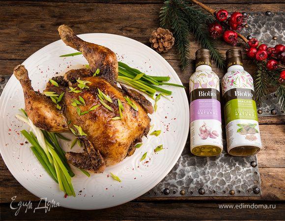 Новогодняя курица в глазури