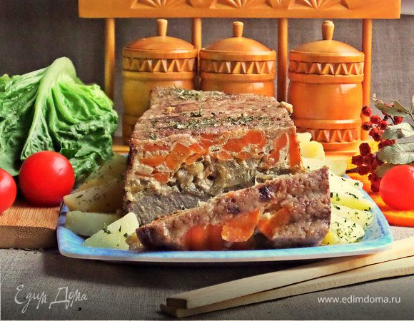 Запеканка-перевертыш из печени и овощей