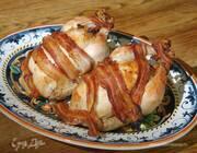 Курица, фаршированная гречкой и каштанами