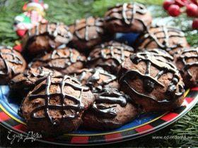 Шоколадно-банановое печенье на майонезе