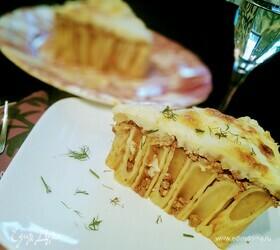 Пирог из ригатони с соусом болоньезе