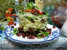 Салат «Гранатовая горка»