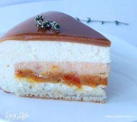 Абрикосово-карамельный торт