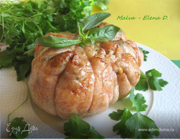 Фаршированная курица по-итальянски
