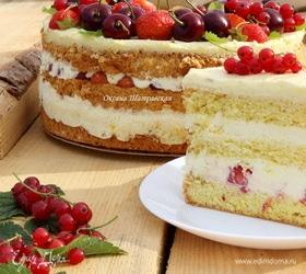 Летний бисквитный торт