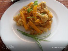 Салат с тыквой и цветной капустой