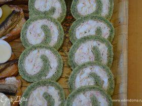Зеленый закусочный рулет