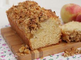 Кекс с яблоками и овсяным штрейзелем