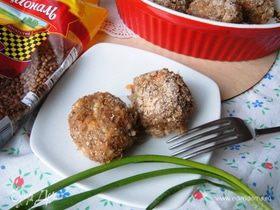 Запеченные гречневые шарики с квашеной капустой