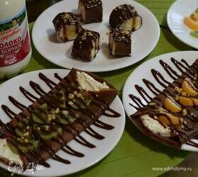 Шоколадные блинчики с творожной начинкой