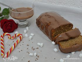 Кофейный кекс с корично-сметанным соусом