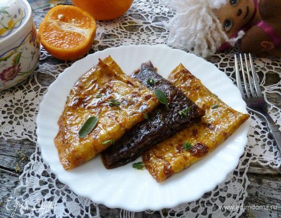 Блинчики с сиропом из цитрусовых