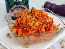 Салат с нутом и корейской морковью