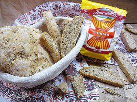 Манный хлеб с семенами подсолнечника