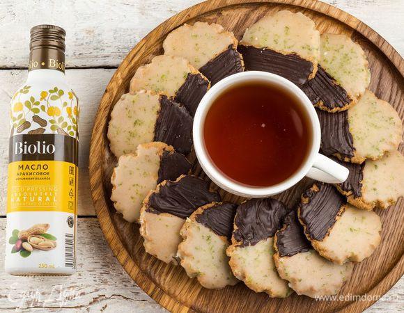 Арахисовое печенье с глазурью