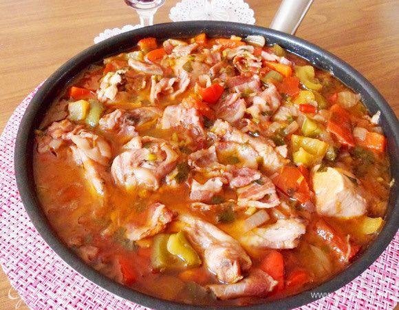 Цыпленок «Чилиндрон» по-арагонски