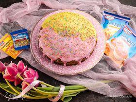 Торт «Нежность» с шоколадом и орехами