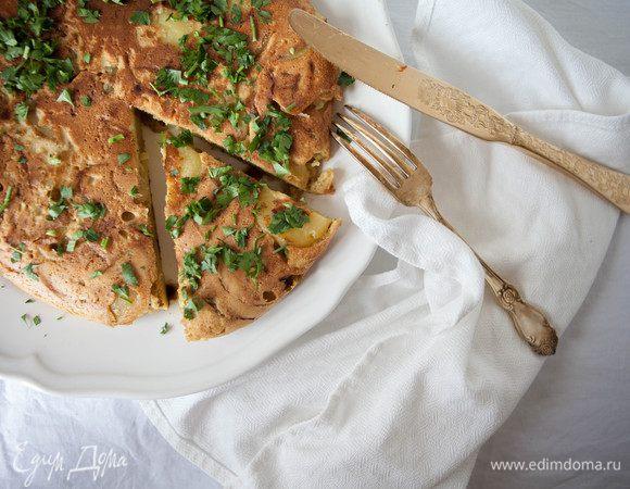 Испанская тортилья без яиц (vegan)