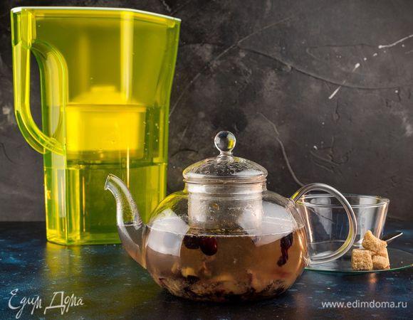 Зеленый чай с голубикой