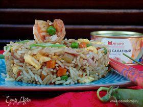 Жареный рис с тунцом по-янчжоуски