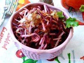 Салат из молодой свеклы и черной редьки