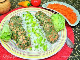 Котлетки паровые из лосося со шпинатом