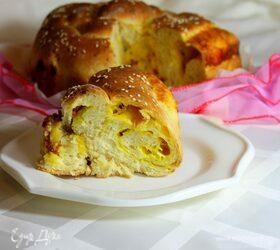 Сдобный пирог с сыром