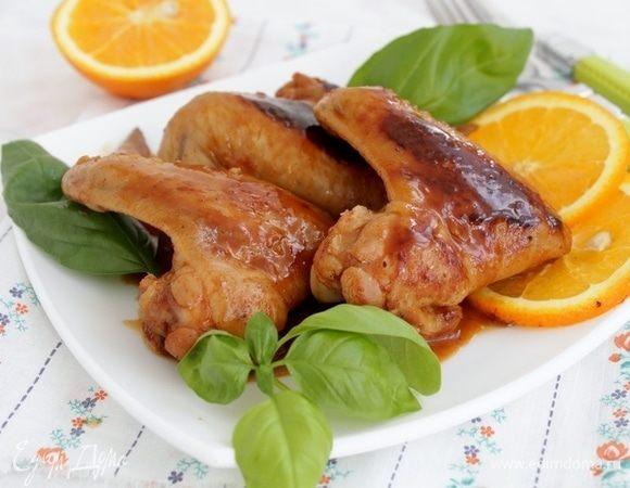Куриные крылышки с апельсиновой заправкой