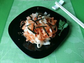 Салат с дайконом по-японски