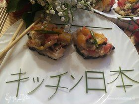 Пицца «Тори маки» по-японски