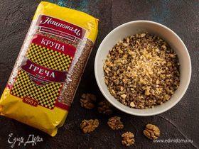 Гречневая каша с орехами и медом