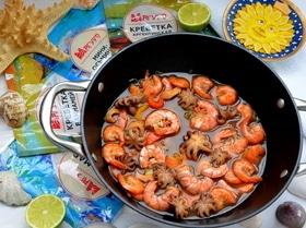 Суп из морепродуктов (Cazuela de mariscos)
